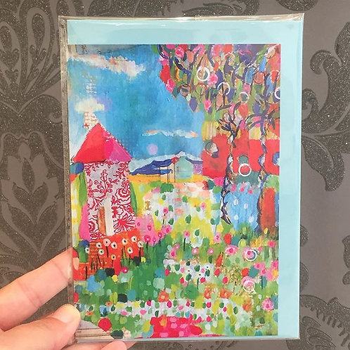 "A6 ""Hen house"" card"