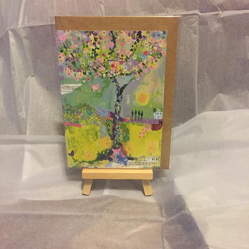"A6 ""Happiness Tree"" card"
