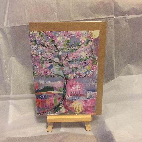 "A6 ""Cherry Blossom"" card"