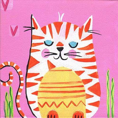 "Square ""Glenda the cat"" card"