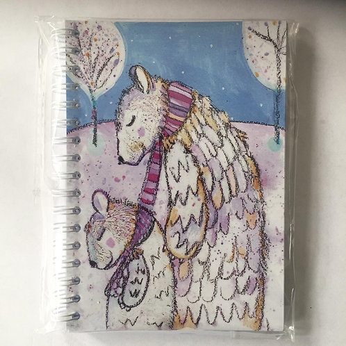 """""""Harrumphing home for Christmas""""A6 notebook"""