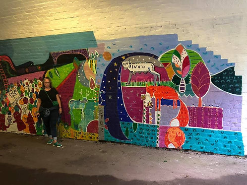 Winklebury Underpass mural with BICN/Basingstoke Council