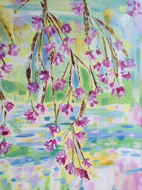 """""""Blossom over water"""" Notebook"""