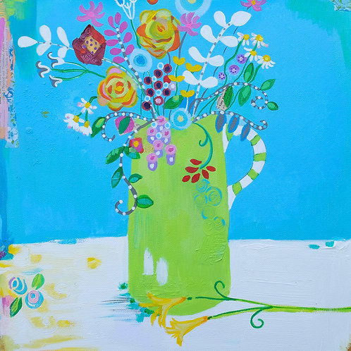 """Square """"Flowers from Henry I"""" card"""