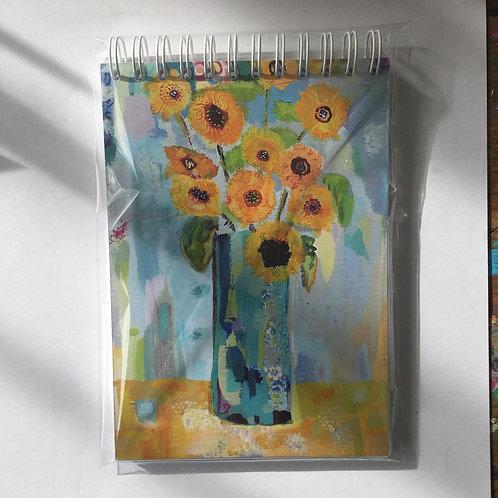 """""""Sunflowers"""" A6 notebook"""