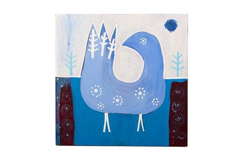 """Original Wood Plaque - """"First Bird"""""""