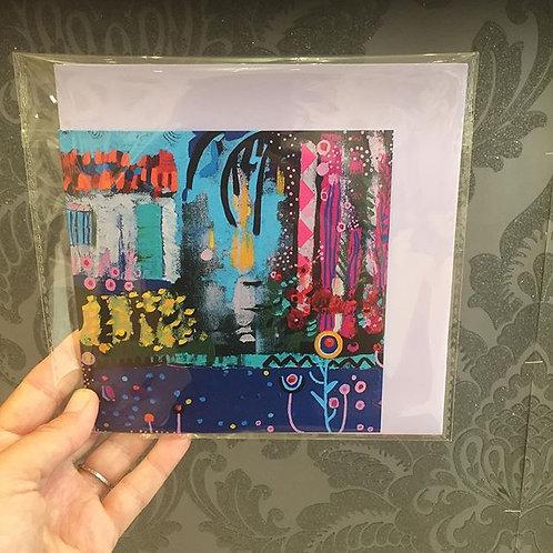 """Square """"Bajo el Sol"""" card"""