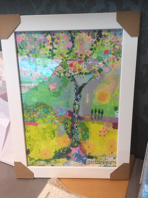 """Happiness Tree"" A3 Framed Print"