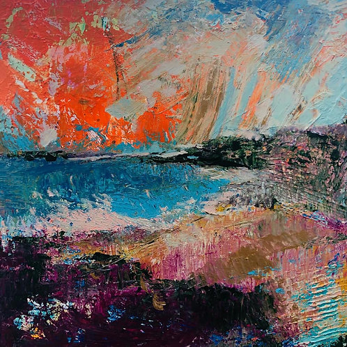 """Square """"The Sea Is Calling II"""" card"""