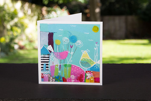 """Square """"Your love lifts me"""" card"""