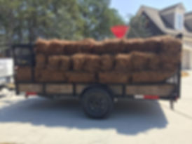 Call us for pine straw delivery and installation