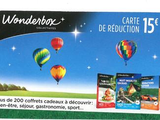 Réduction WonderLoisirs & WonderBox