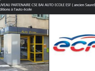 Nouveau PARTENAIRE CSE BAI AUTO ECOLE ECF