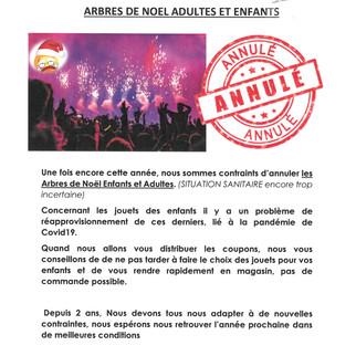 COMMUNIQUE CSE BAI ARBRES DE NOEL