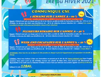 INFORMATION ODALYS 2021 CSE BAI