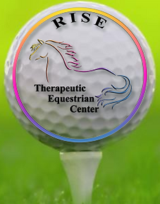 RISE Rehab Golf Ball Logo
