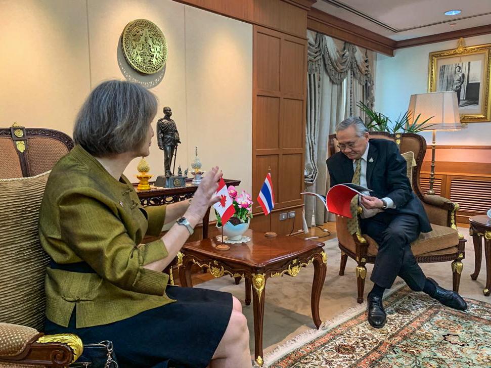 Ambassador Taylor & Foreign Minister Pramudwinai