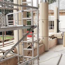 Column Wet Cast Installation