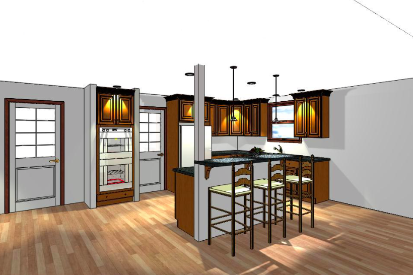 Kitchen 3d Rendering Gallery