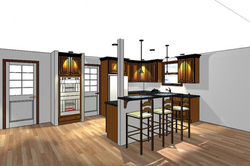 Kitchen 3d Rendering Gallery