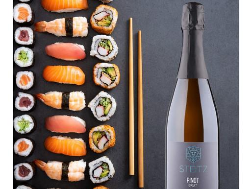 Sushi und Pinot Sekt