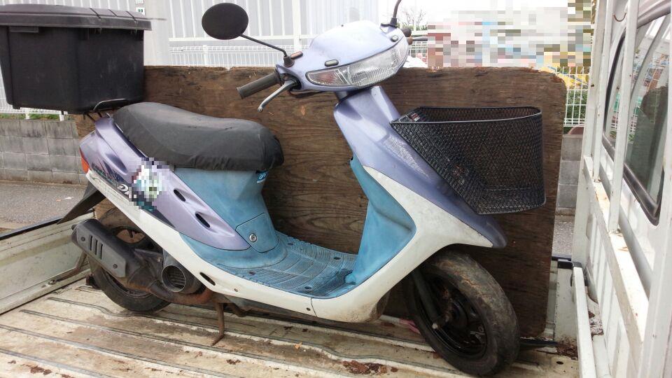 習志野市で故障した原付バイクの引き取り