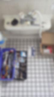 お風呂場のシャワー取り付け工事