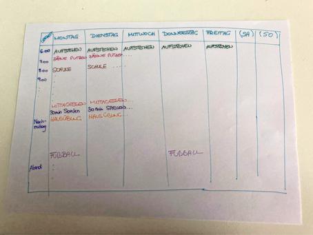 Wochenplan entwickeln