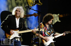 Albert Lee with Brian May
