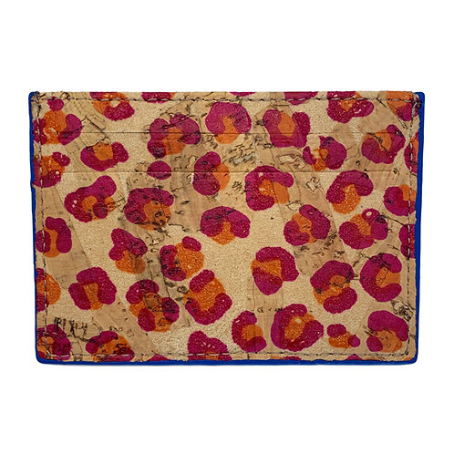 FLORAL PRINT CORK CARD HOLDER BY NY-CORK