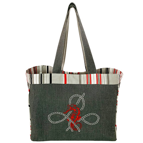 CORAL REEF SEA HORSE TOTE BAG BY ARTEMIDE