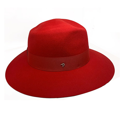 RED ANDREA HAT BY PANIZZA