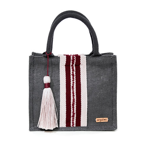 LIMITED EDITION GREY MINI SHOPPER BAG BY ARGALIOS