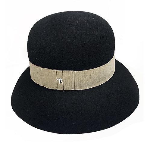 BLACK MARGO HAT BY PANIZZA