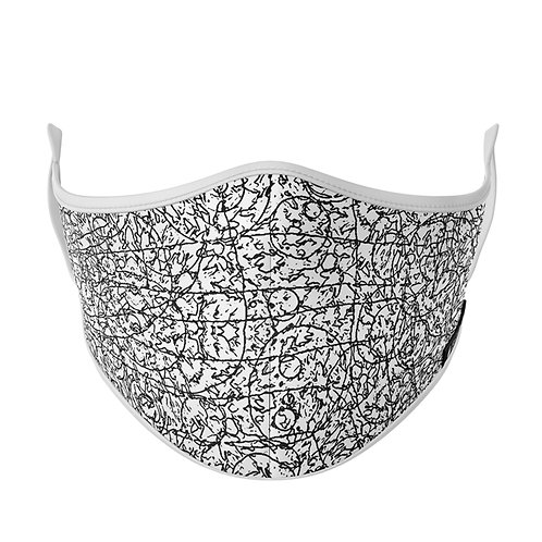 UNISEX WORLDS PRINT FACE MASK BY EPICLOTH