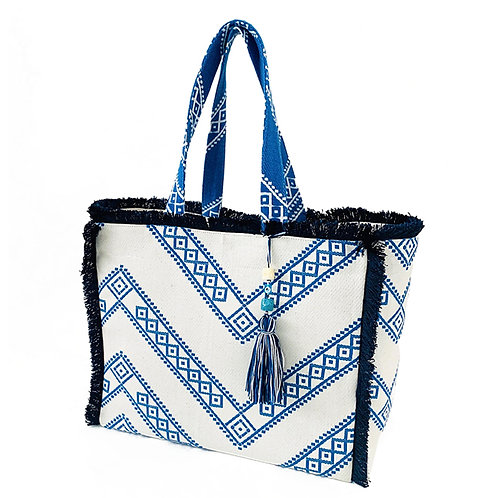 KNOSSOS GREEK BLUE TOTE BAG BY ARTEMIDE