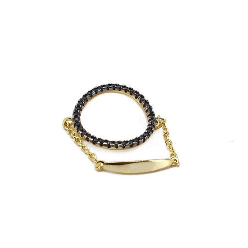 CHIARA GOLD CHAIN RING BY TUTU