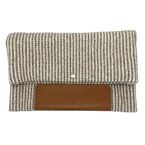 NINA STRIPE WOOL CLUTCH BY STEVE MONO