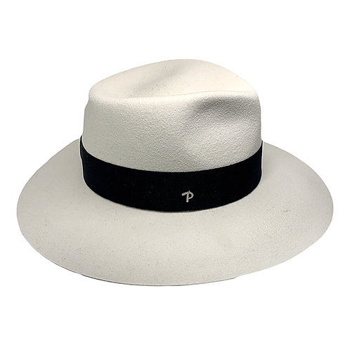 WHITE ANDREA HAT BY PANIZZA