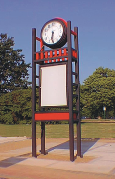 Bus Stop Clock Tower DuoPanel