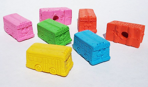 Happy Bus Erasers