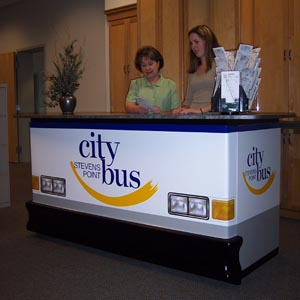 Bus booth