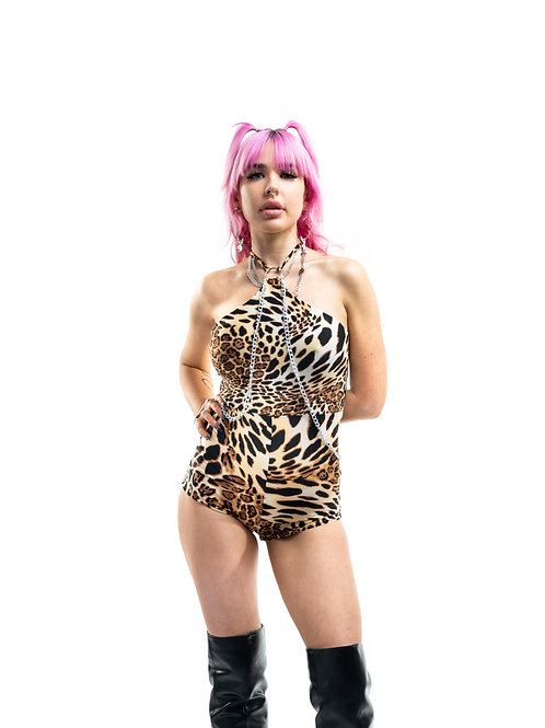 Queen Leopard Savannah Romper
