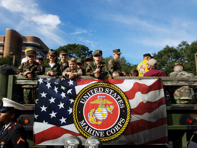 Young Marines in Pensacola Veterans Day Parade