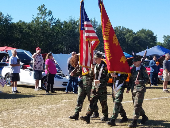 Young Marines Color Guard