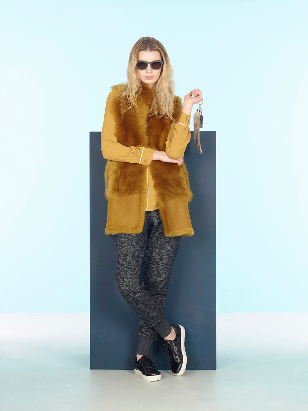 Creative fashion photography with a female model for fur and leather brand Karl Donoghue