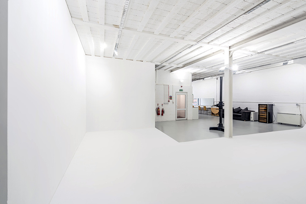 RGB Digital's hire studio for photography and film with flat corner walls perfect for room set photography