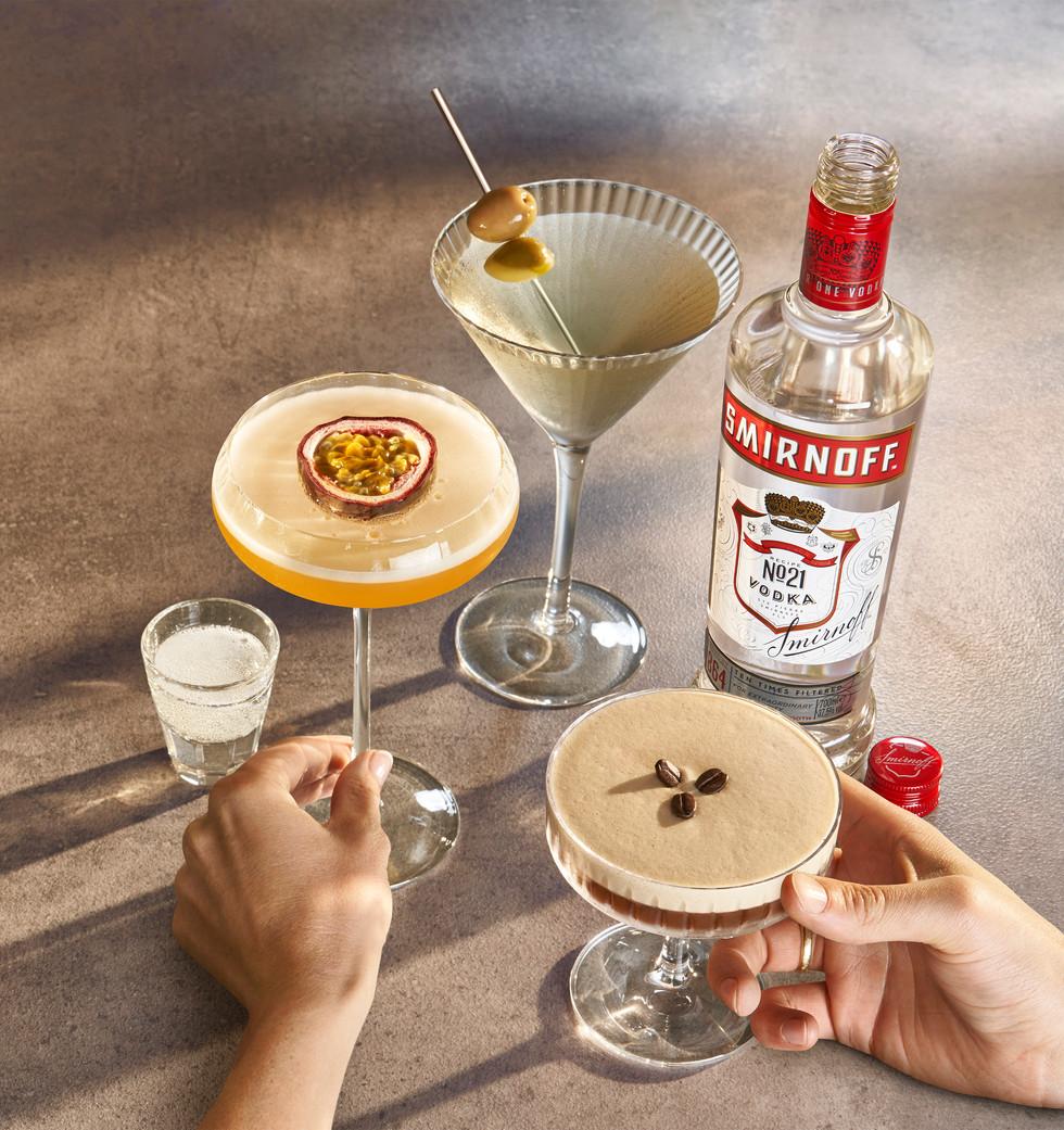 Smirnoff martinis