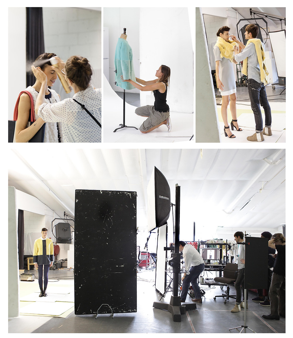 Behind the scenes studio photography