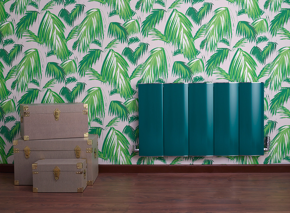 Green radiator room set with props shot taken at RGB Studio Hire, Acton London